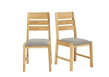 Portland Pair of Slatted Back Dining Chairs in  on Furniture Village