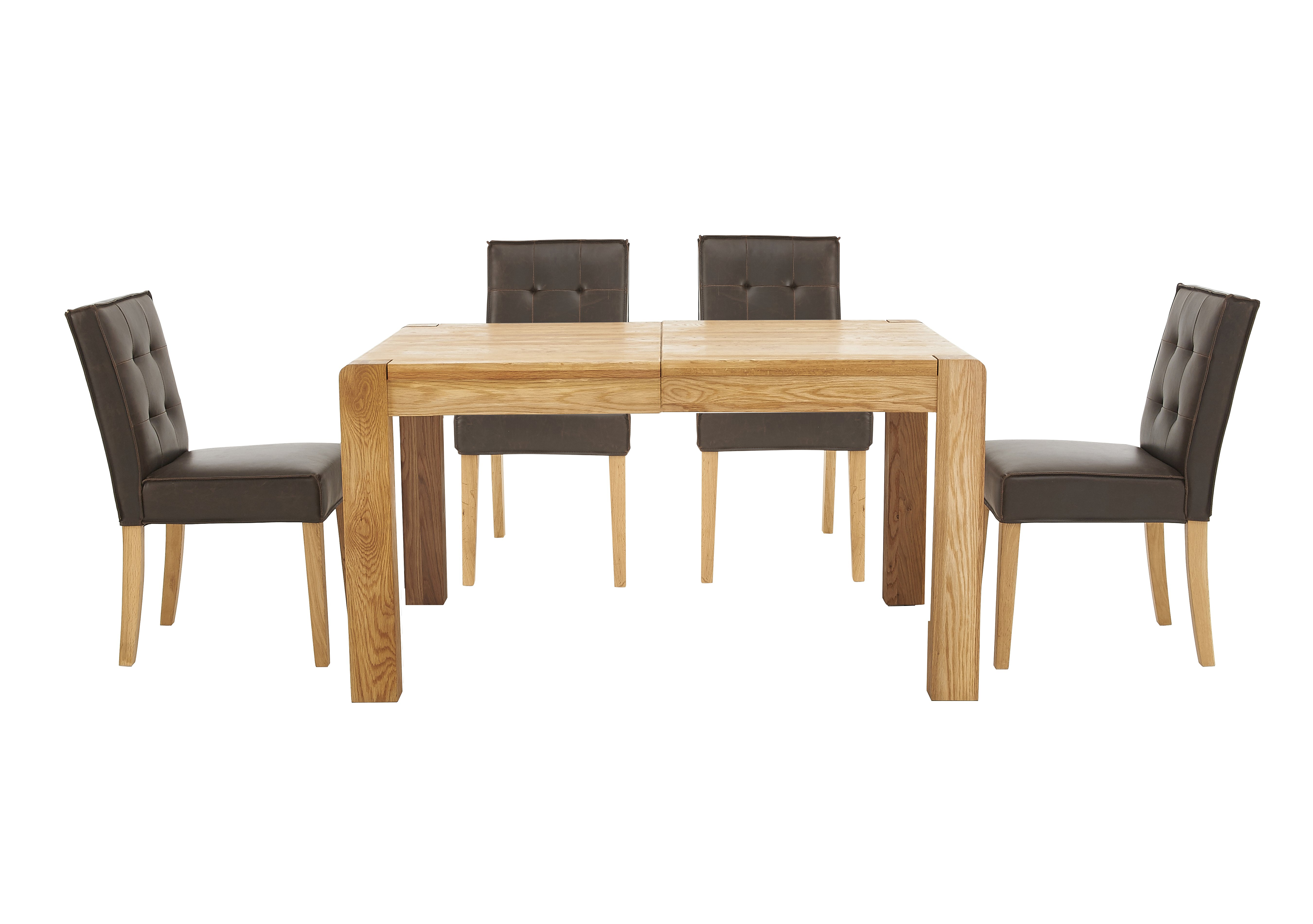 Portland Extending Dining Table and 4 Buttonback Chairs