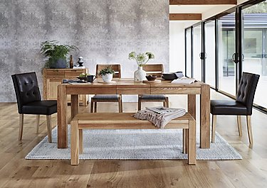 Portland Extending Dining Table and 4 Buttonback Chairs in  on Furniture Village