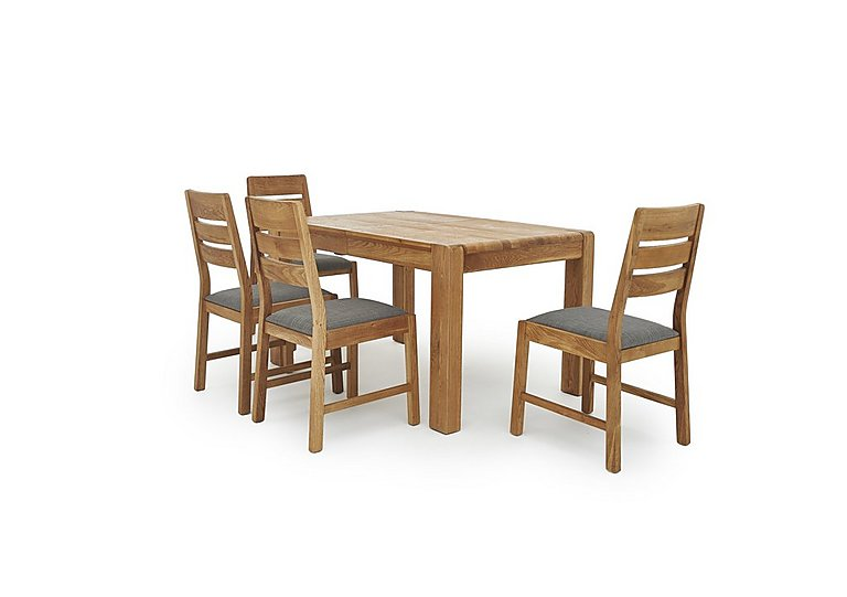 portland extending dining table and 4 slatted back chairs ForDining Room Tables Portland Or