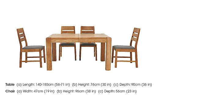 Portland Extending Dining Table and 4 Slatted Back Chairs in  on Furniture Village