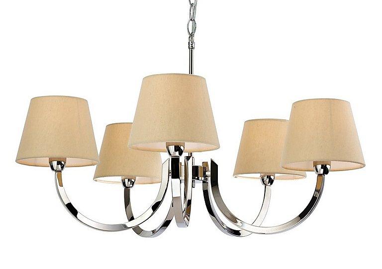 Preston 5 Light Pendant Light in  on Furniture Village