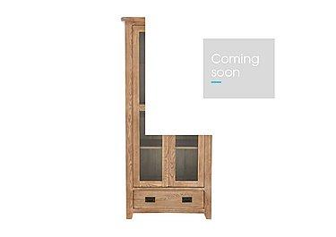Provence Oak Glazed Display Unit in  on Furniture Village
