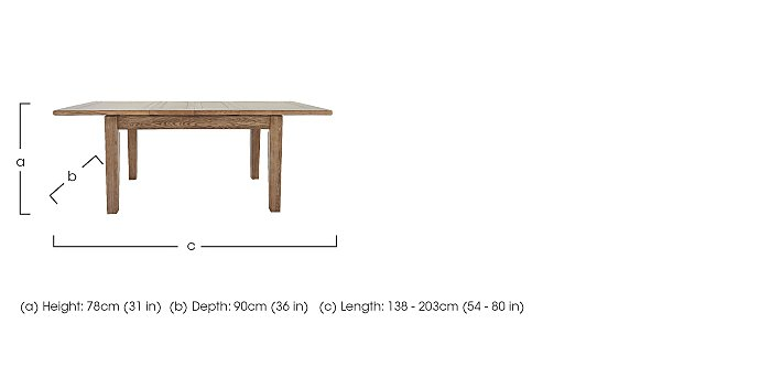 Provence Extending Oak Dining Table in  on Furniture Village