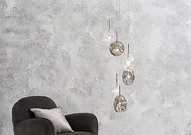 Quinn 6 Light Cluster Ceiling Light in  on Furniture Village