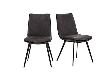 Ranger Pair of Grey Dining Chairs in  on Furniture Village