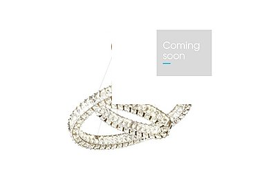 Richmond Twin Oval Crystal Ceiling Pendant in  on Furniture Village