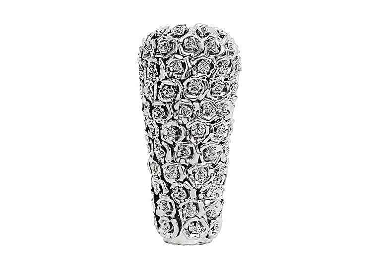 Rose Vase Silver in  on Furniture Village