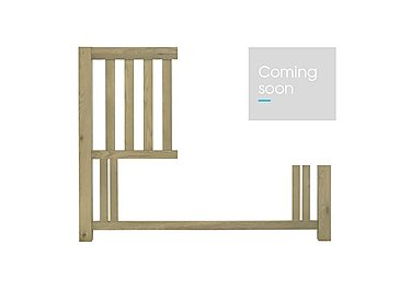 Roble Double Slatted Headboard in  on Furniture Village