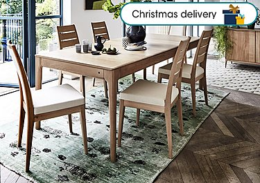 Romana Small Extending Dining Table And 4 Slatted Dining Chairs