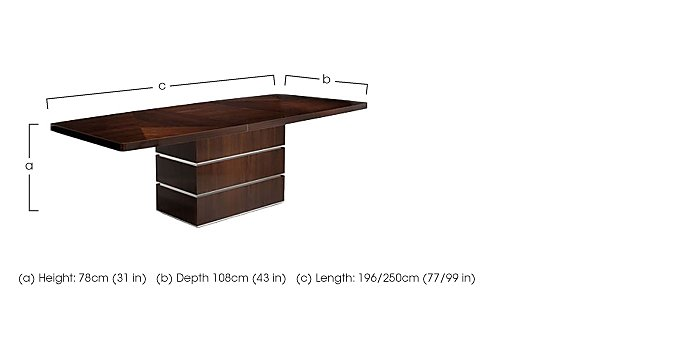 Rossini Extending Dining Table in  on Furniture Village