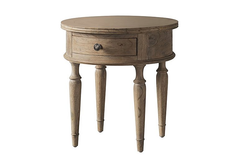Riviera Round 1 Drawer Lamp Table in  on Furniture Village