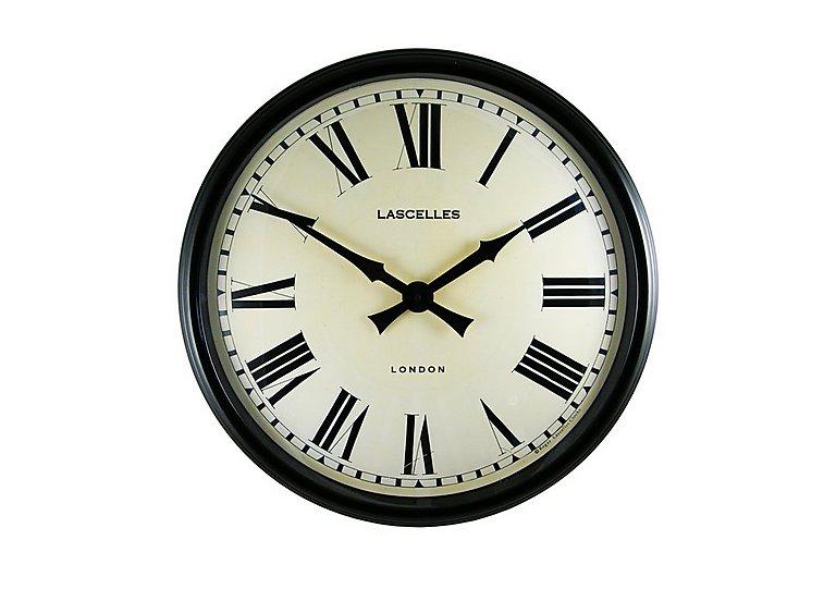 Station Clock Black in  on Furniture Village