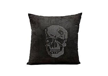 Rhinestone Skull Cushion in  on Furniture Village