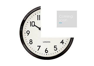 Smith's Retro Clock Black in  on Furniture Village