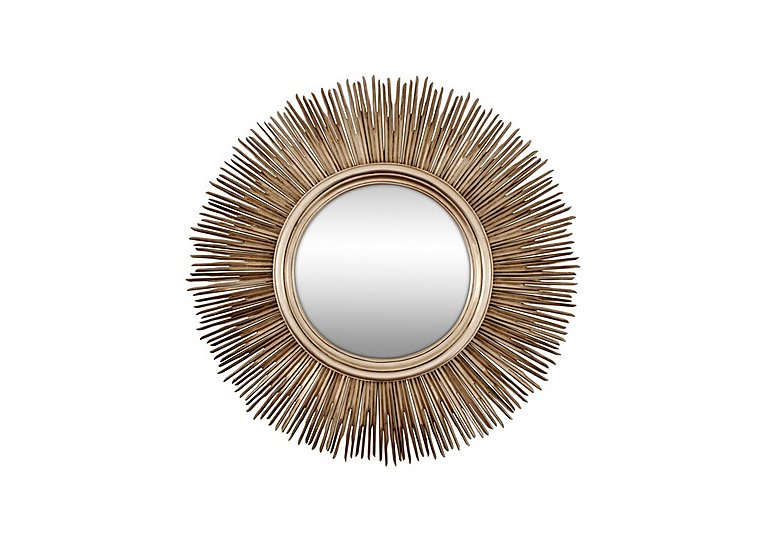 Sunburst Mirror Silver in  on Furniture Village