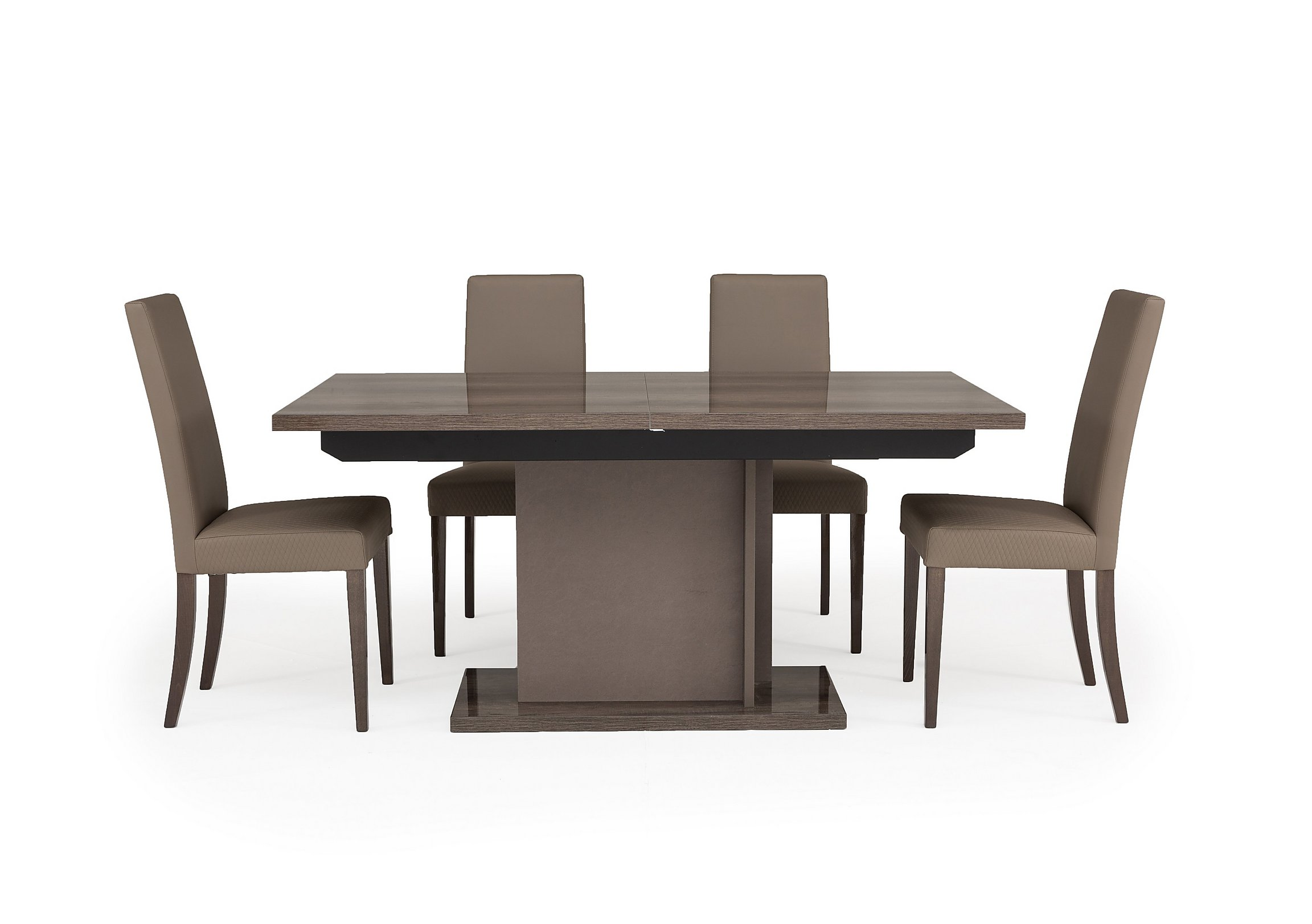 Soprano Extending Dining Table and 4 Chairs - Furniture Village