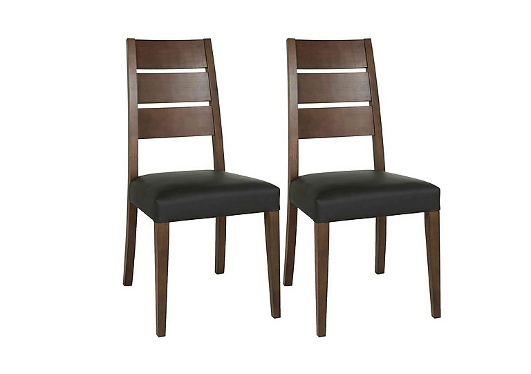 Sorrento Pair of Slatted Dining Chairs in  on Furniture Village