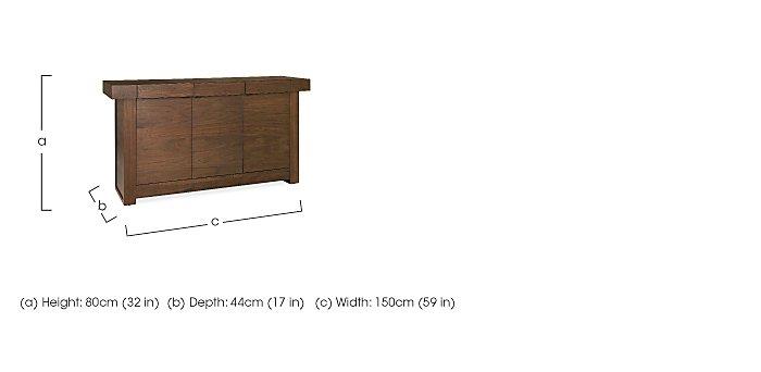 Sorrento Wide Sideboard in  on Furniture Village