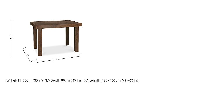 Sorrento Small Extending Dining Table in  on Furniture Village