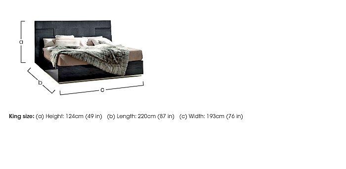 St Moritz King Size Bed Frame in  on Furniture Village
