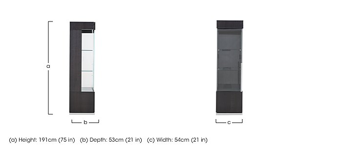 St Moritz 1 Door Right Hand Curio Cabinet in  on Furniture Village