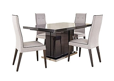 St Moritz Extending Dining Table And 4 Fabric Upholstered Dining Chairs ALF