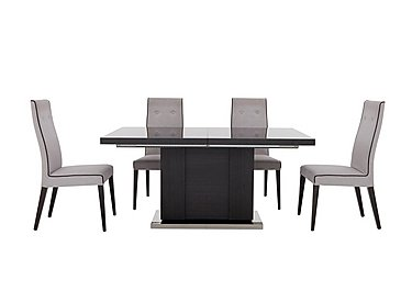 St Moritz Extending Table and 4 Fabric Upholstered Chairs in  on Furniture Village