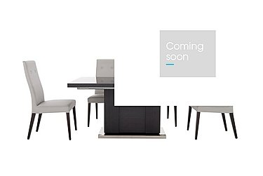 St Moritz Extending Table and 4 Faux Leather Upholstered Chairs in  on Furniture Village