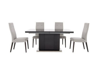 St Moritz Extending Table And 4 Faux Leather Chairs