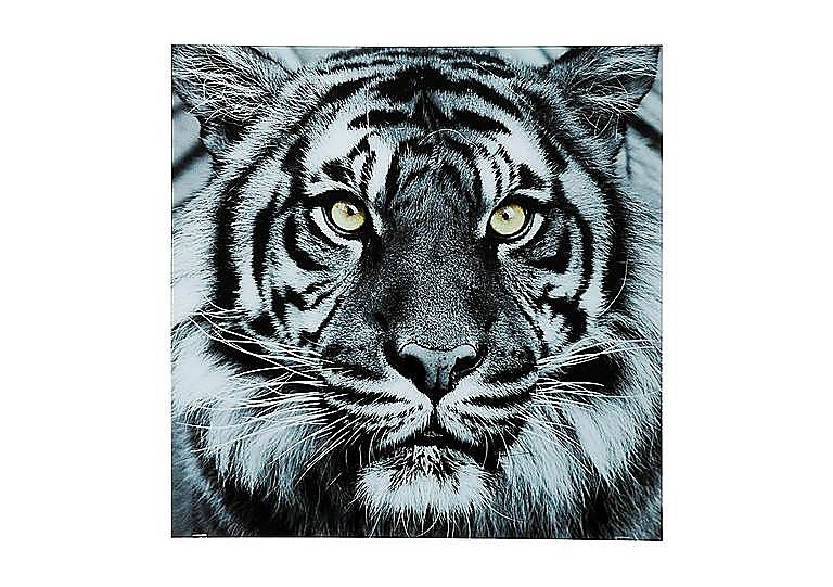 Tiger Face Glass Picture in  on Furniture Village