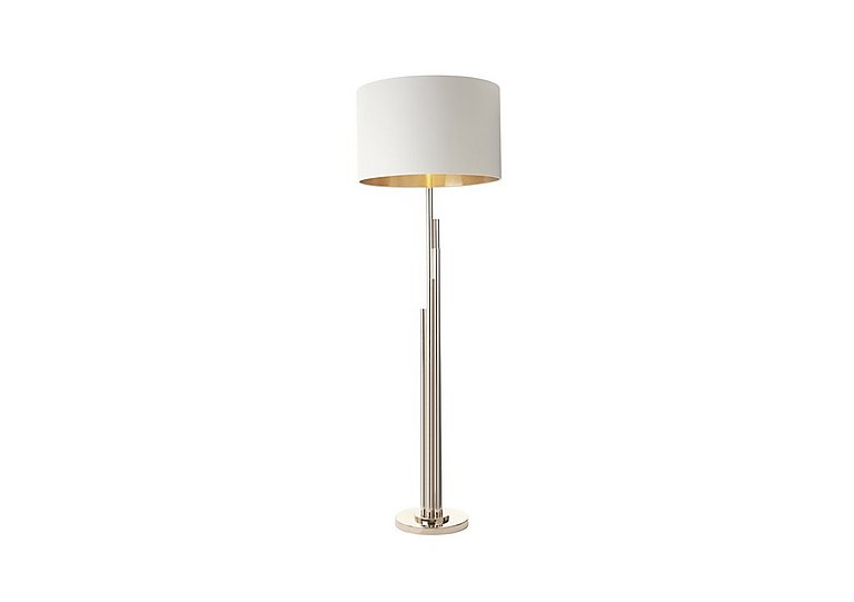 Tali Pale Gold Finish Floor Lamp in  on Furniture Village