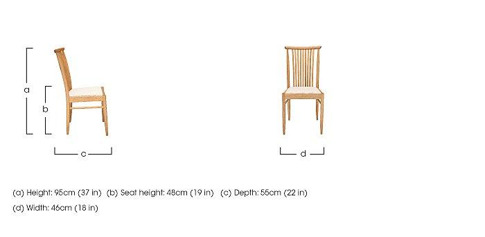 Teramo Dining Chair in  on Furniture Village