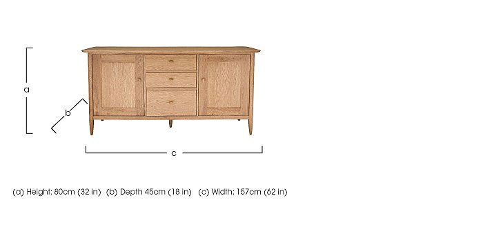 Teramo Large Sideboard in  on Furniture Village