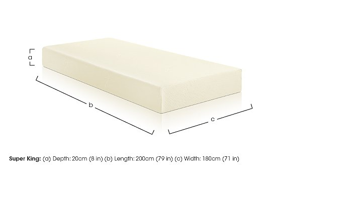 Original 20cm Super King (6ft) Mattress in  on Furniture Village