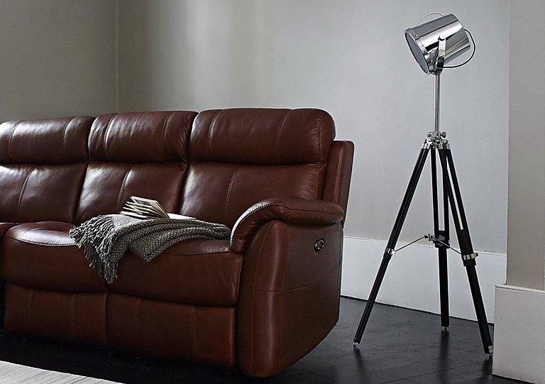 chrome tripod spotlight floor lamp