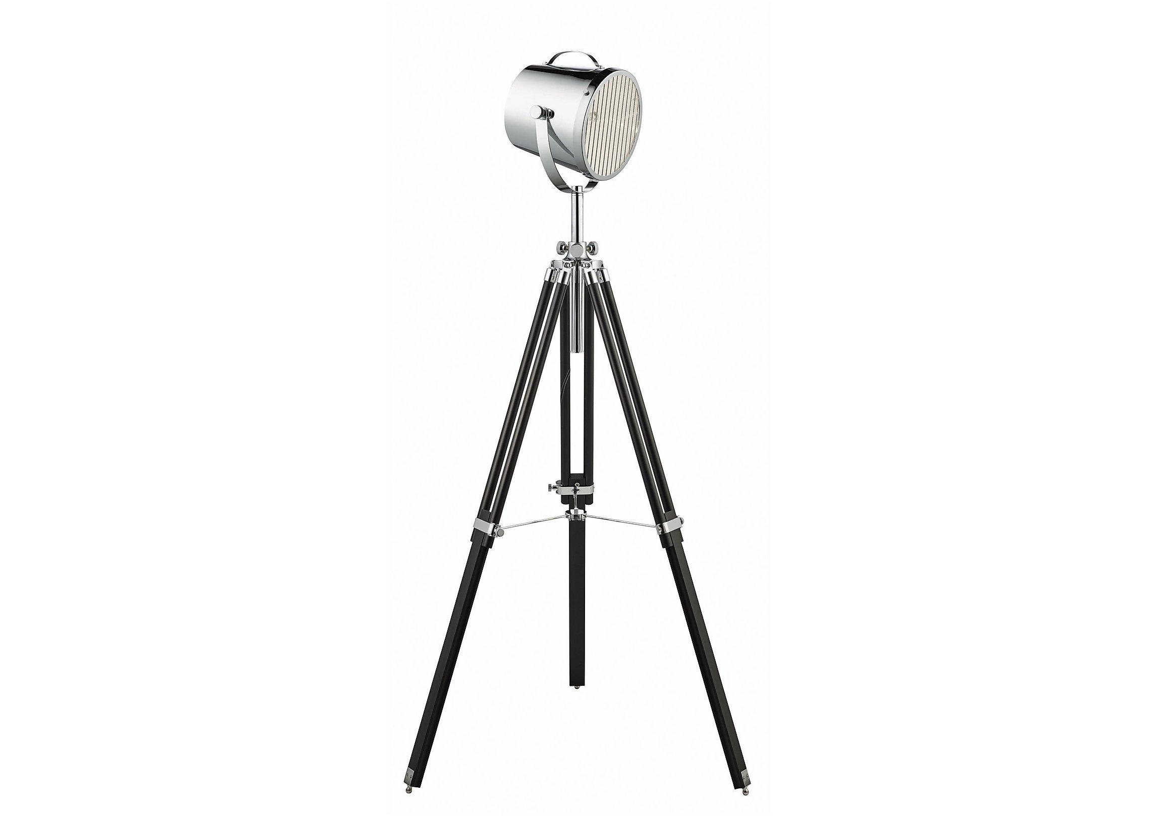 Chrome Tripod Spotlight Floor Lamp - Furniture Village