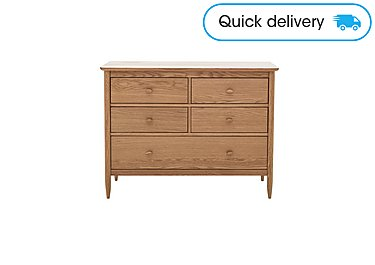 Chest Of Drawers.Teramo 5 Drawer Wide Chest