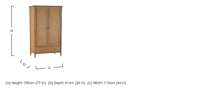 Teramo 2 Door Wardrobe in  on Furniture Village