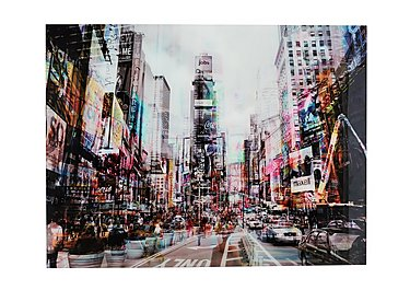 Times Square Glass Picture in  on Furniture Village