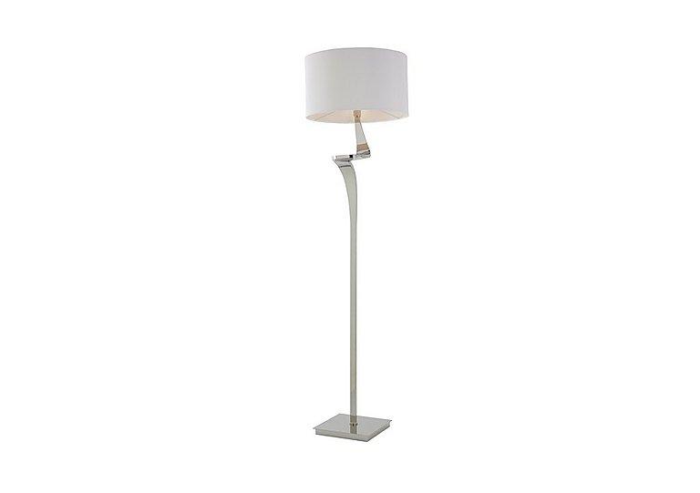 Tessa Nickel Floor Lamp in  on Furniture Village