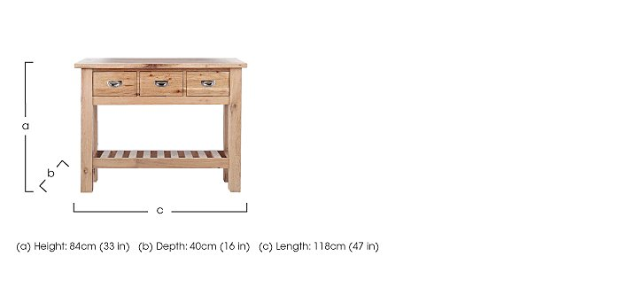 Tuscan Hills Console Table in  on Furniture Village
