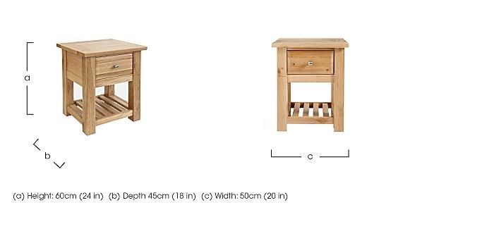 Tuscan Hills Bedside Table in  on Furniture Village