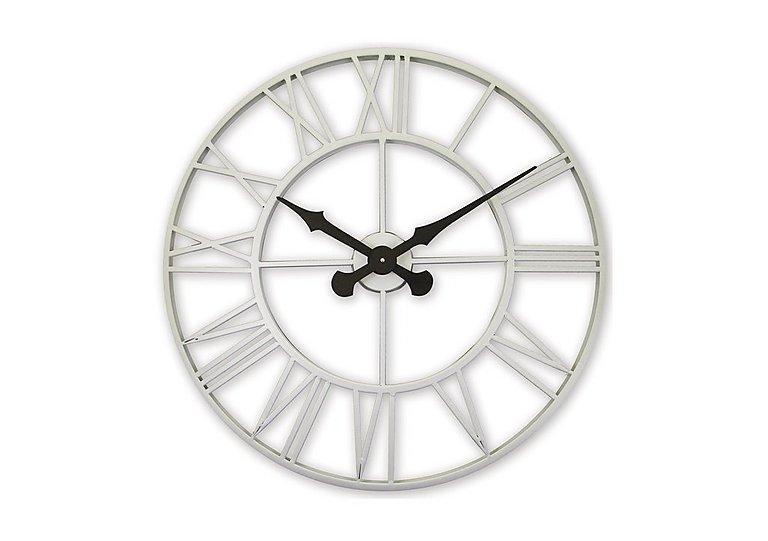 Vintage Cream Metal Wall Clock in  on Furniture Village