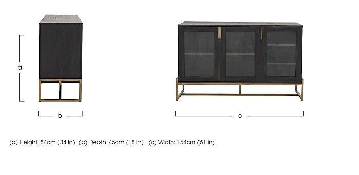 Vogue 3 Door Sideboard in  on Furniture Village