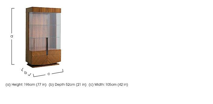 Verona 2 Door Curio Cabinet in  on Furniture Village