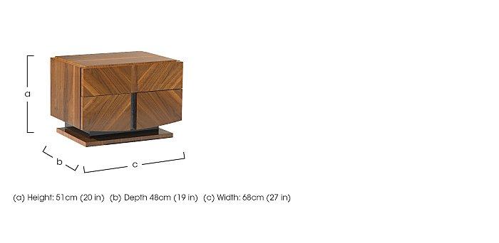 Verona Bedside Table in  on Furniture Village