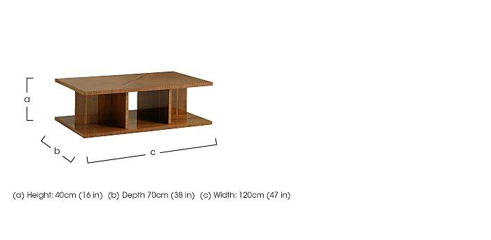 Verona Rectangular Coffee Table in  on Furniture Village