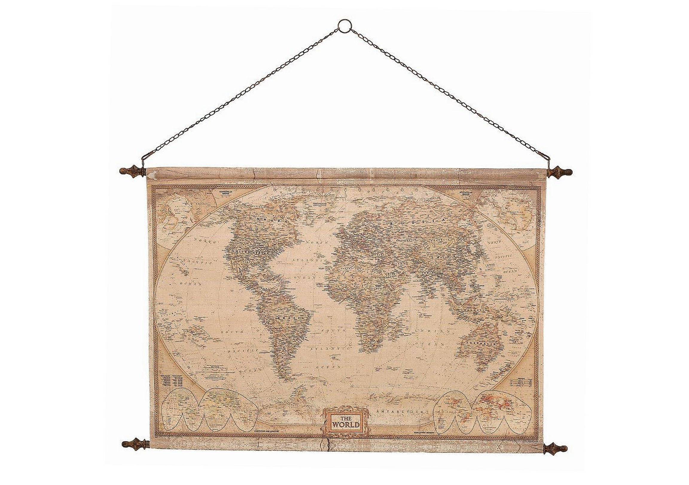 Vintage hanging wall map furniture village vintage hanging wall map gumiabroncs Gallery