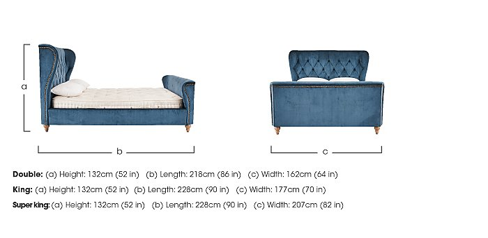 Cheltenham Super King Bed Frame - Only One Left! in  on Furniture Village